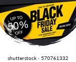 black friday sale banner | Shutterstock .eps vector #570761332