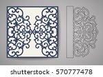 laser cut invitation card.... | Shutterstock .eps vector #570777478