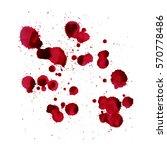 splashes of blood. vector image ... | Shutterstock .eps vector #570778486
