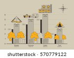 travel infographic illustration ... | Shutterstock .eps vector #570779122