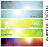 banners  headers abstract... | Shutterstock .eps vector #57077962