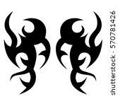 tribal tattoos design element.... | Shutterstock .eps vector #570781426