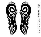 tattoo tribal vector design... | Shutterstock .eps vector #570781636