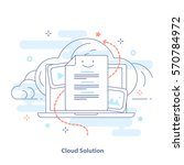 cloud technology and data...   Shutterstock .eps vector #570784972