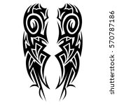 vector tribal tattoo cross... | Shutterstock .eps vector #570787186