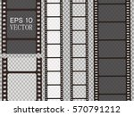 set of vector film strip... | Shutterstock .eps vector #570791212