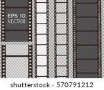 set of vector film strip... | Shutterstock .eps vector #570791212