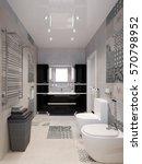 modern bathroom interior with