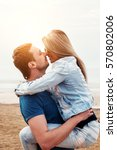young happy couple in love... | Shutterstock . vector #570802006