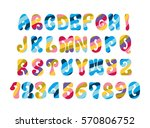 psychedelic font with colorful... | Shutterstock . vector #570806752