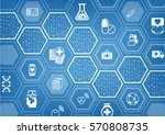 electronic e healthcare blue... | Shutterstock .eps vector #570808735