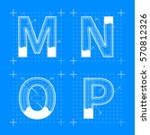 construction sketches of m n o... | Shutterstock . vector #570812326