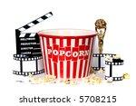 studio background of film... | Shutterstock . vector #5708215