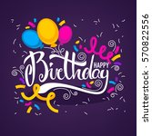 glossy and shine birthday card...   Shutterstock .eps vector #570822556