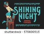 Vintage Cabaret Style Font Wit...