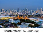wat phra kaew or royal grand... | Shutterstock . vector #570834352