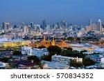 wat phra kaew or royal grand... | Shutterstock . vector #570834352