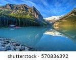 mount victoria glacier...   Shutterstock . vector #570836392