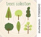 trees selection | Shutterstock .eps vector #570838342