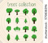 trees selection | Shutterstock .eps vector #570838396