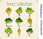 trees selection | Shutterstock .eps vector #570838462