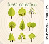 trees selection | Shutterstock .eps vector #570838492