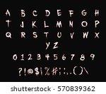 phantom font   handwriting... | Shutterstock .eps vector #570839362