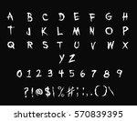 handwriting halloween font  ... | Shutterstock .eps vector #570839395