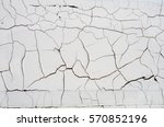old wooden board with peeling... | Shutterstock . vector #570852196
