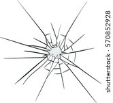 broken glass effect. hole in... | Shutterstock .eps vector #570852928