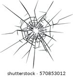 broken glass effect. hole in... | Shutterstock .eps vector #570853012
