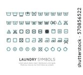 garment care symbols set. the... | Shutterstock .eps vector #570856522