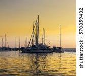 yachts in the mediterranean... | Shutterstock . vector #570859432