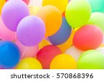 colorful balloons background   Shutterstock . vector #570868396