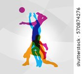 vector logo volleyball.... | Shutterstock .eps vector #570874276