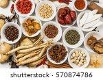 chinese medicine ingredients of ... | Shutterstock . vector #570874786