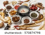 chinese medicine ingredients of ... | Shutterstock . vector #570874798