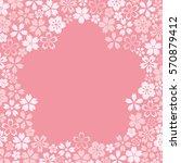cherry blossom frame | Shutterstock .eps vector #570879412