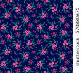 seamless pattern with flowers... | Shutterstock .eps vector #570880675