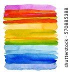 collection of watercolor brush... | Shutterstock . vector #570885388