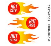 hot sale price offer vector... | Shutterstock .eps vector #570891562