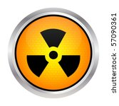 radioactivity button | Shutterstock .eps vector #57090361