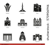asian capitals  part 4    glyph ... | Shutterstock .eps vector #570906946