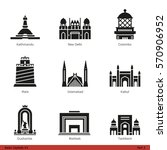 Asian Capitals (Part 3) - Glyph Icon Set