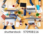 interacting as team for better... | Shutterstock . vector #570908116