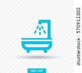shower bath isolated minimal... | Shutterstock .eps vector #570911302