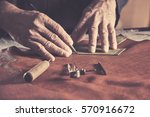 shoe production process in... | Shutterstock . vector #570916672