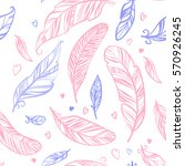 colorful seamless pattern with... | Shutterstock .eps vector #570926245