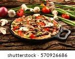 traditional  wild mushroom... | Shutterstock . vector #570926686