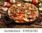 delicious homemade mushroom... | Shutterstock . vector #570926782